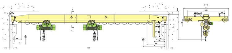 LDE型电动单梁qy8.vip千赢国际图纸